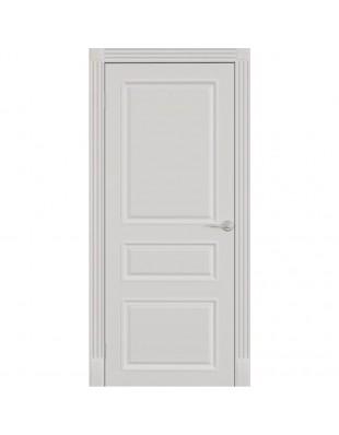 Двери межкомнатные Omega Bravo Лондон ПГ белая эмаль