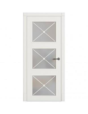 Двери межкомнатные Omega Bravo Рим-Венециано ПОО белая эмаль