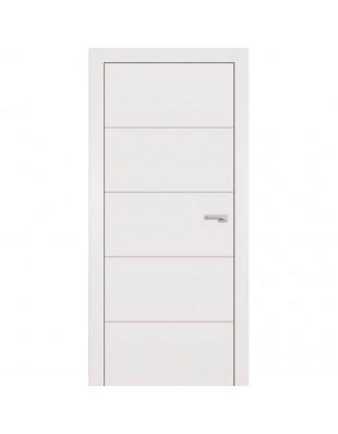 Двери межкомнатные Omega Lines F5 белая эмаль