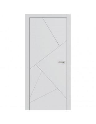 Двери межкомнатные Omega Lines F9 белая эмаль