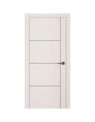 Двери межкомнатные Omega Lines L3 молдинг AL Black белая эмаль