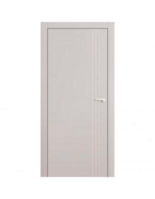 Двери межкомнатные Omega Lines L7 молдинг AL белая эмаль