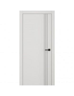 Двери межкомнатные Omega Lines L7 молдинг AL Black белая эмаль