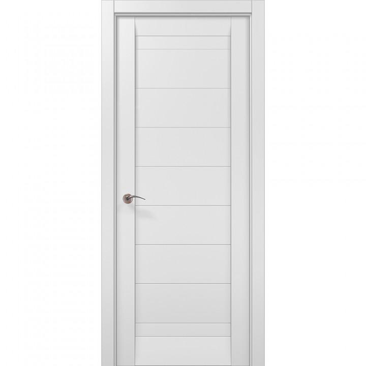 Межкомнатные двери Папа Карло Millenium ML-04с белый матовый