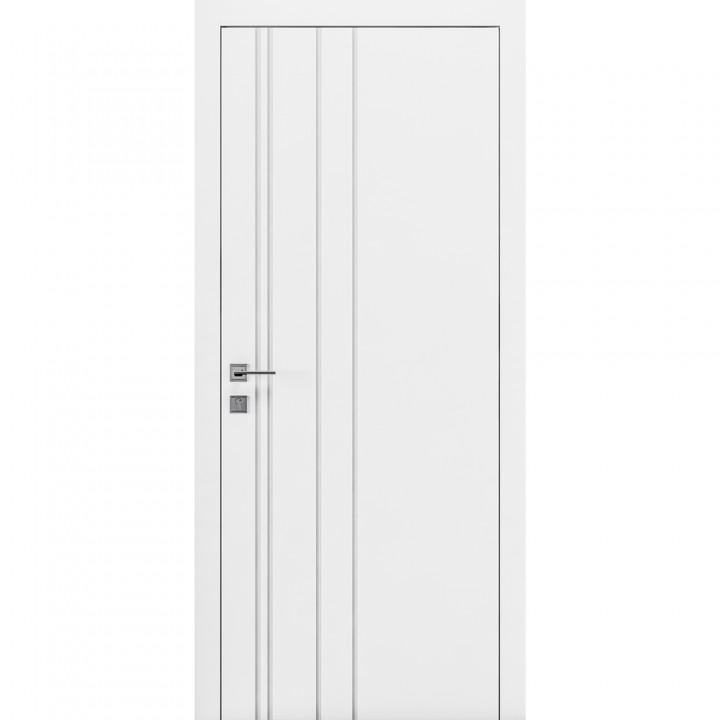 Межкомнатные двери Rodos Cortes Prima фрезеровка 1 белая эмаль